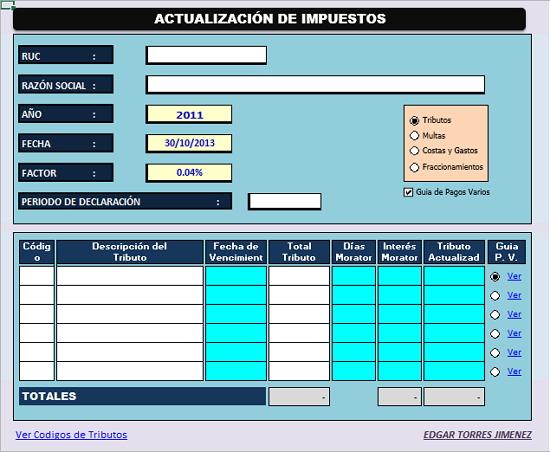calculadora tributaria
