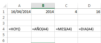 fechas excel 2013