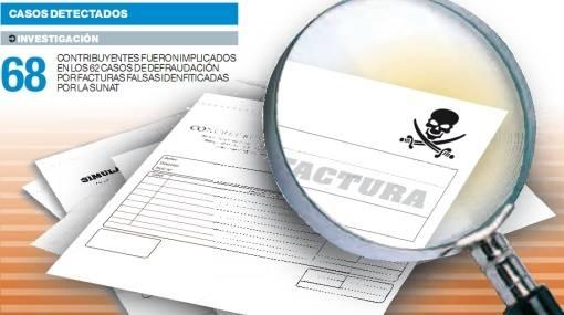 "SUNAT descubre 58 mil casos de facturas falsas y ""de favor"""