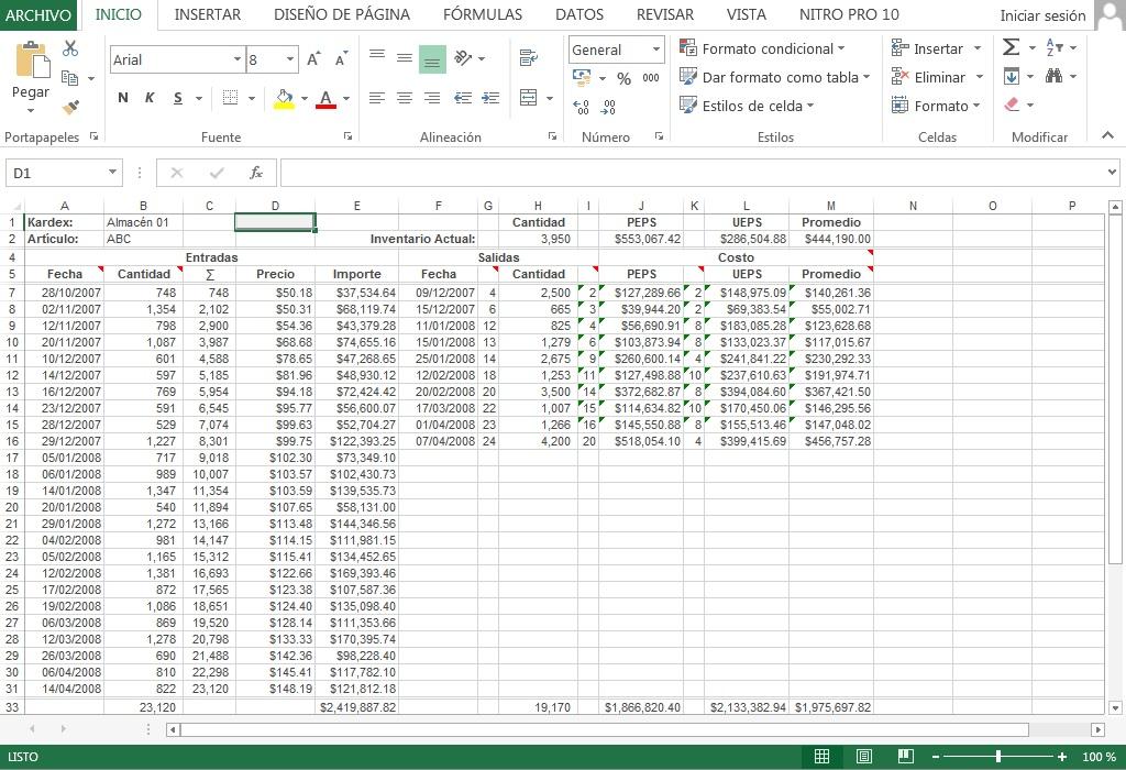 Descargar » Plantilla Excel – Kardex de Almacén