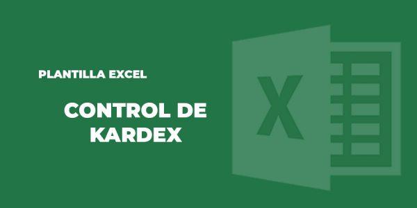 plantilla excel control kardex