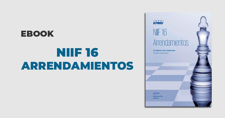 NIIF 16 arrendamientos
