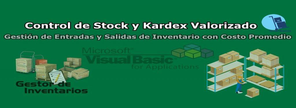 macro excel control stock kardex valorizado