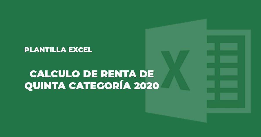 plantilla excel calculo renta quinta categoría 2020