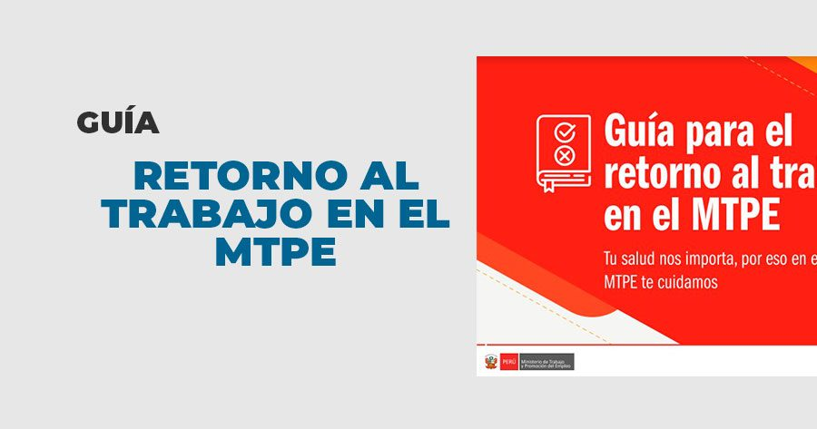 guia retorno trabajo MTPE
