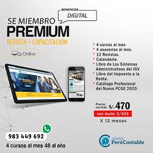 Suscripcion Premium Perucontable