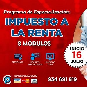 Programa Especialización Impuesto Renta