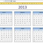 Calendario en Excel 2013