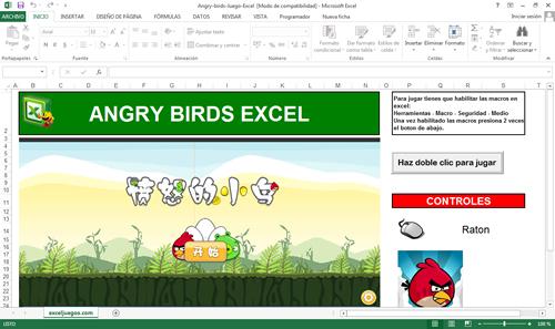 Andry Birds en excel