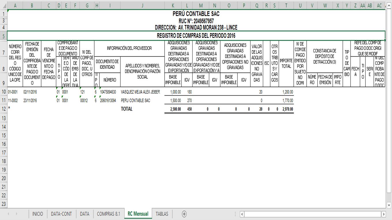 Macro Registro Compras Electrónico