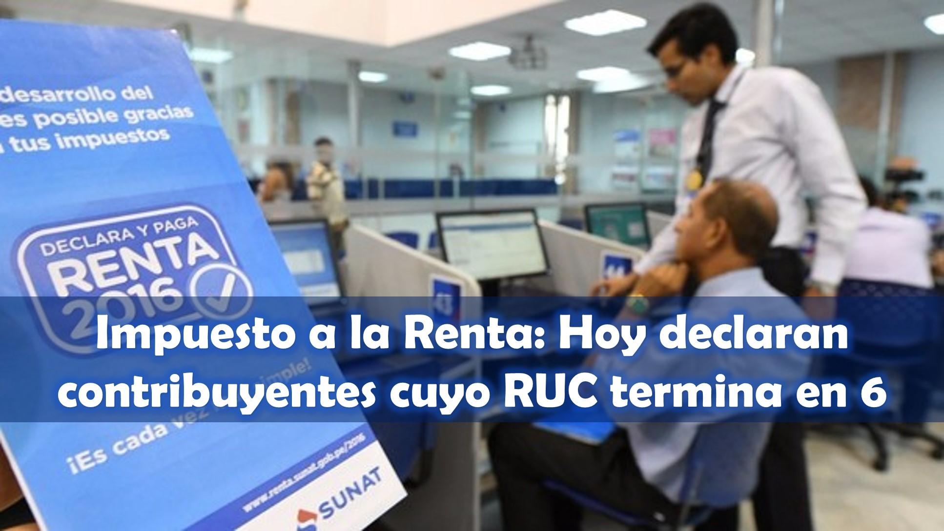 Cronograma De Impuesto A La Renta 2016 Peru