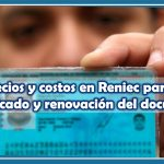DNI precios y costos en Reniec para tener el duplicado y renovación del documento