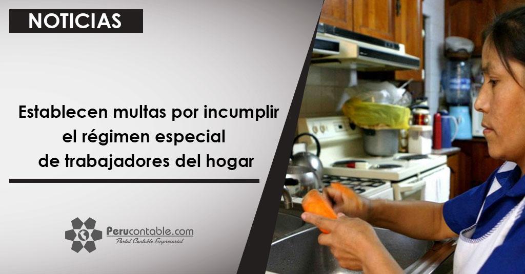 Establecen multas por incumplir el r gimen especial de for Formulario trabajadores del hogar